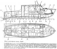 Общее расположение катера «Румб»