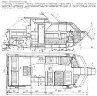 Общее расположение катера «RZ-8»