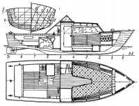 Общее расположение катера «Тюлень»