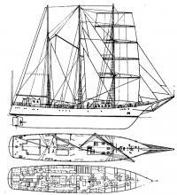 Общее расположение судна «Искра»