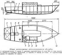 Общее расположение яхты-компромисса «Эллада»