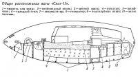 Общее расположение яхты «Скат-II»