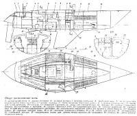 Общее расположение яхты «Вэнгард»
