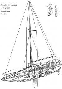 Общее устройство моторного парусника «V-5»