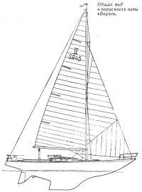 Общий вид и парусность яхты «Варяг»