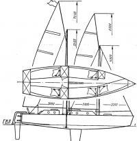 Общий вид и расположение разборного крейсерского швертбота «Бином»