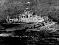 Общий вид лоцманского катера на ходу