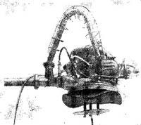 Общий вид водомета из агрегата ЦБН-2