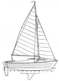 Общий вид яхты