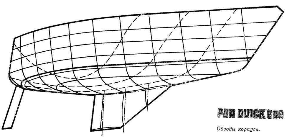 Обводы корпуса «Пан Дюик 600»