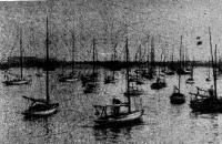 Один из первых водноспортивных праздников на Неве. Фото начала 30-годов