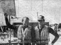 Олимпийские чемпионы в классе «Торнадо» Алешендрэ Велтер (справа) и Ларс Сигурд