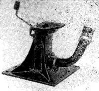 Опорная плита в сборе с укороченным дейдвудом и выхлопным патрубком