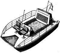 Палубная лодка-катамаран конструкции Д. Бича (США)