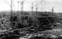 Панорама строительства главного здания и гостиниц Олимпийского парусного центра