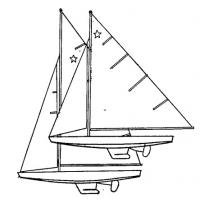 Парус яхты класса «Звездный»