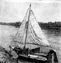 Парусник из лодки «Дельфин»