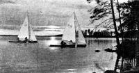 Парусники на озере Кереть