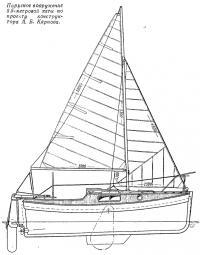 Парусное вооружение 5,5-метровой яхты по проекту А. Б. Карпова