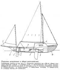 Парусное вооружение и общее расположение «Дрэскомб Крейсер»