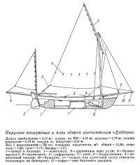 Парусное вооружение и план общего расположения «Дрэскомб Дэббер»