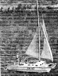 Парусный катамаран «Гефест» под парусами