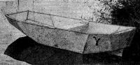 Пенопластовая лодка «Гамма» на плаву