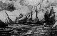Первая гонка русских яхтсменов. Репродукция со старинной гравюры