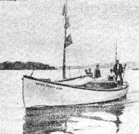 Первый «теплоход-трансатлантик» на ходу под мотором