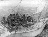 Первый выход экспериментальной яхты с экипажем из участников разработки проекта