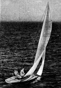 Пинегин на яхте «Звездного» класса