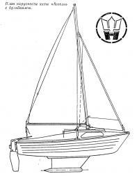 План парусности яхты «Ассоль» с бульбкилем