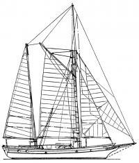 План парусности яхты «Голден Хорн»