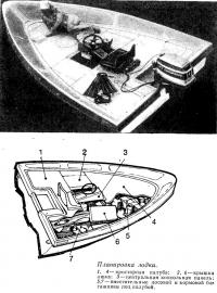 Планировка лодки «Морской дротик»