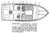 Планировка рыболовного катера «Торнамент Фишермен»