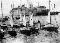 Пластмассовые польские яхты у причала Сухумского порта