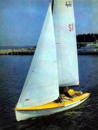 Пластмассовый швертбот олимпийского класса «470»