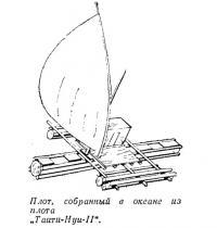 Плот собранный в океане из плота «Таити-Нуи-II»