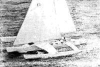 Победитель ОСТАР-80 Филип Уэлд и его тримаран «Мокси»