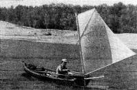 Подвесной парус на лодке