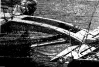 Поперечная балка и крыло тримарана «Идрофол»