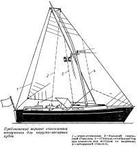 Предлагаемый вариант стаксельного вооружения для парусно-моторных судов