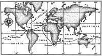 Примерная схема кругосветного рейса на яхте «Мазурка»