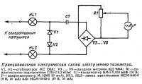 Принципиальная электрическая схема электронного тахометра