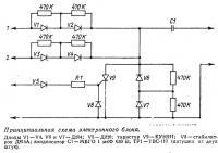Принципиальная схема электронного блока