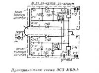 Принципиальная схема ЭСЗ МБЭ-1