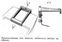Приспособление для навески подвесного мотора на «Финн»