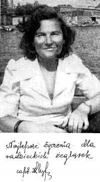 Приветствие Кристины Хойновской-Лискевич советским яхтсменкам
