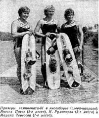 Призеры чемпионата-81 в многоборье