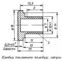 Пробка топливного колодца; латунь